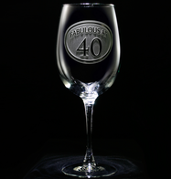 Engraved 40th Birthday Wine Glass