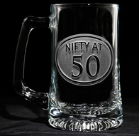Engraved 50th Birthday Beer mug