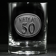 Engraved 50th Birthday Whiskey Glass