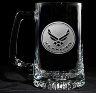 Engraved Air Force Beer Mug, Military Gifts