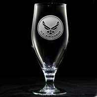 Engraved Air Force Goblet, Military Gifts