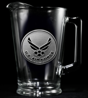 Engraved Air Force Military Pitcher