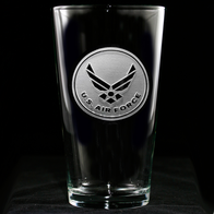 Engraved Air Force Pub Pint Beer Glass