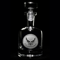 Engraved Air Force Whiskey Scotch Decanter