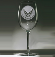 Engraved Air Force Wine Glasses