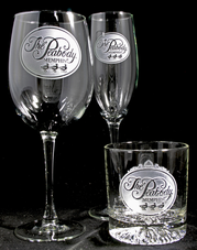 Engraved Business Corporate Logo Promotional Bar Glasses, Barware