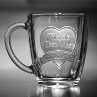 Engraved and Personalized Glass Coffee Mug