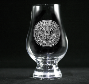 Engraved Army Glencairn Whisky Glass