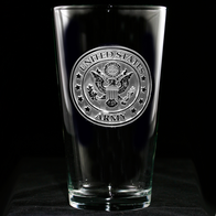 Engraved Army Pub Pint Beer Glasses