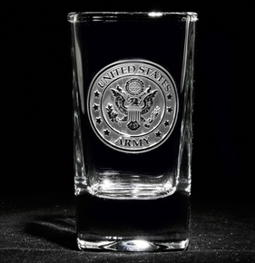 Engraved Army Shot Glass