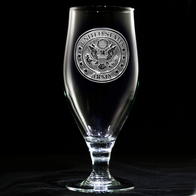 Engraved Army Water, Iced Tea Goblet