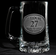 Engraved Birthday Beer mug