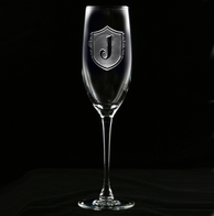 Engraved Champagne Flute