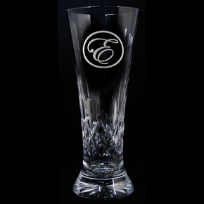 Engraved Crystal Beer Pilsner, PAIR