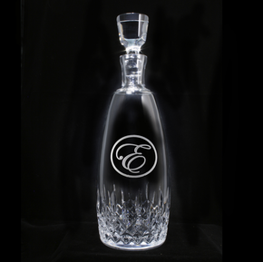 Engraved Crystal Bourbon Decanter