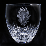 Engraved Crystal Ice Bucket
