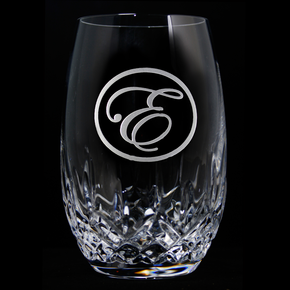 Engraved Crystal Stemless Wine, PAIR