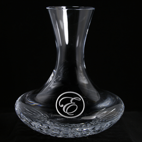 Engraved Crystal Wine Decanter