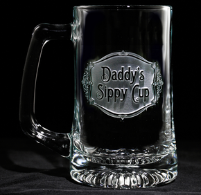 Engraved Daddy's Sippy Cup Beer Mug