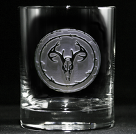 Engraved Deer Skull Whiskey Scotch Glasses