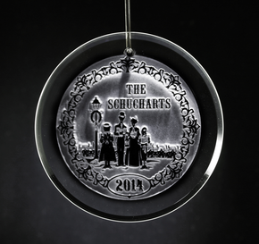 Engraved Family Christmas Ornament