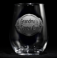 Engraved Grandma's Sippy Cup Stemless Wine Glass