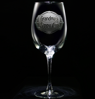 Engraved Grandma's Sippy Cup Wine Glass