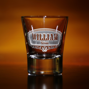 Engraved Groomsman Shot Glass