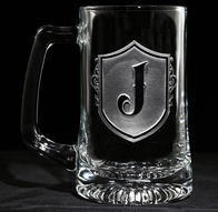 Engraved Monogram Beer Mug
