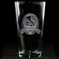 Engraved Italian Pub Glass