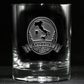 Engraved Italian Whiskey Glass