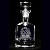 Engraved Italian Whiskey, Scotch Decanter