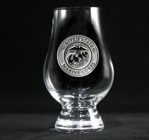 Engraved Marines Glencairn Whisky Glass