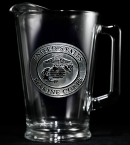 Engraved Marines Military Pitcher