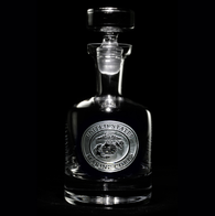 Engraved Marines Whiskey Scotch Decanters