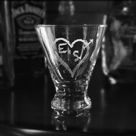 Engraved Martini Glasses for Women