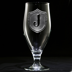 Engraved Monogram Water Goblet