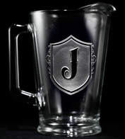 Engraved Monogrammed Beer Pitcher