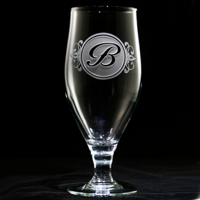 Engraved Monogrammed Water Iced Tea Goblets