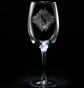 Engraved Monogrammed Wine Glasses