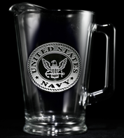 Engraved Navy Military Pitcher