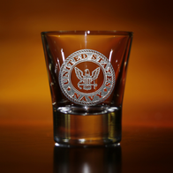 Engraved Navy Shot Glasses