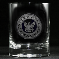Engraved Navy Whiskey Scotch Bourbon Glasses