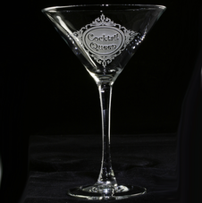 Engraved Personalized Custom Martini Glasses