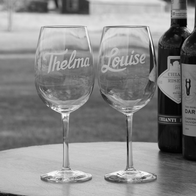 Engraved Wine Glasses, Personalized Stemware