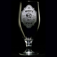Engraved Personalized Pub Sign Goblet Water Glass