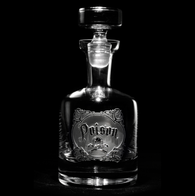 Engraved Poison Whiskey Decanter