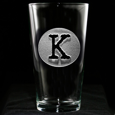 Monogram Pub Pint Glasses