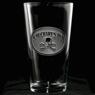 Engraved Pub Pint Glasses for Men