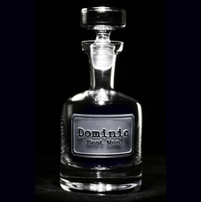 Engraved Decanters, Whiskey, Scotch, Bourbon